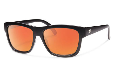 Forecast - CID Matte Black Sunglasses, Red Mirror Lenses