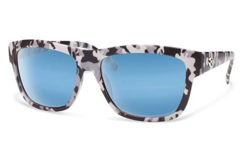 Forecast - CID Tan Camo Sunglasses, Blue Mirror Lenses