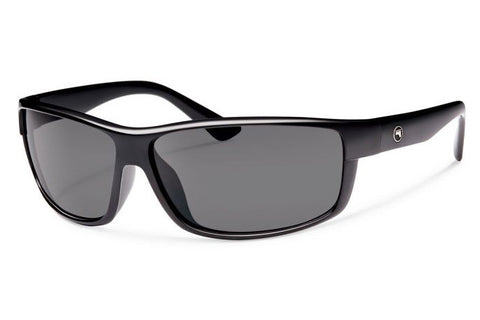 Forecast - Eli Black Sunglasses, Gray Polarized Lenses
