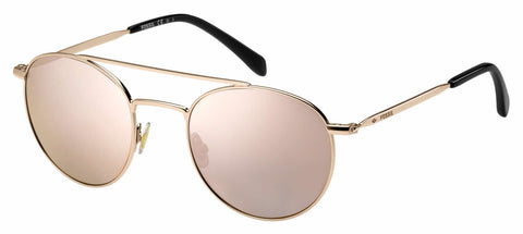 Fossil - Fos 3069 S Red Gold Sunglasses / Gray Rose Gold Lenses