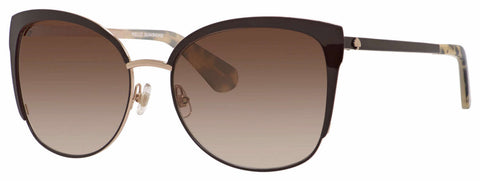 Kate Spade - Genice S Brown Gold Sunglasses / Warm Brown Gradient Lenses