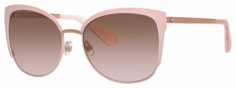 Kate Spade - Genice S Pink Gold Sunglasses / Brown Pink Gradient Lenses