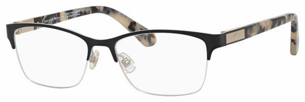 Kate Spade - Glorianne 53mm Black Havana Eyeglasses / Demo Lenses