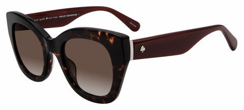 Kate Spade - Jalena S Dark Havana Sunglasses / Brown Gradient Lenses