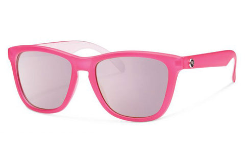 Forecast - Jan Matte Pink Sunglasses, Pink Mirror Lenses