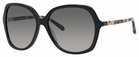 Kate Spade - Jonell S Black Havana Sunglasses / Gray Gradient Lenses