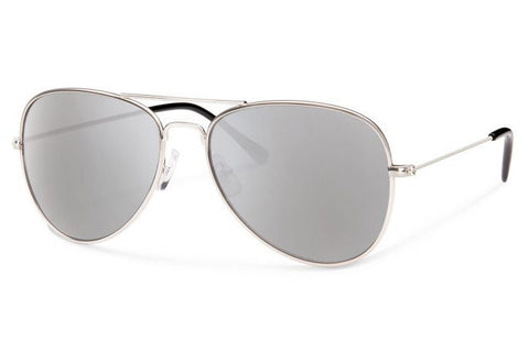 Forecast - Kennedy Silver Sunglasses, Silver Mirror Lenses