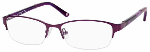 Liz Claiborne - L 385 53mm Violet Purple Eyeglasses / Demo Lenses