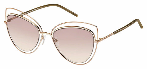 Marc Jacobs - Marc 8 S Gold Copper Sunglasses / Pink Beige Lenses
