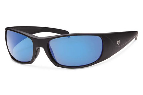 Forecast - Olaf Matte Black Sunglasses, Blue Mirror Lenses