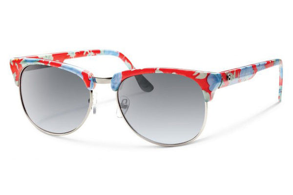 Forecast - Rink Red Floral Sunglasses, Gray Gradient Lenses