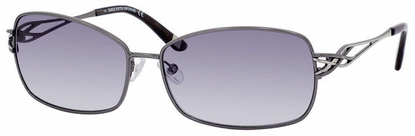 Saks Fifth Avenue - Saks 62 S Dark Ruthenium Sunglasses / Gray Gradient Lenses