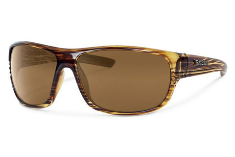 Forecast - Scout Brown Stripe Sunglasses, Brown Lenses