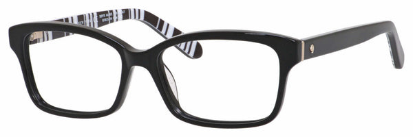 Kate Spade - Sharla 53mm Black Ptt White Eyeglasses / Demo Lenses