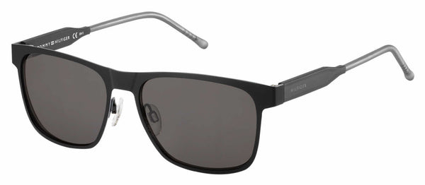Tommy Hilfiger - Th 1394 S Matte Black Gray Sunglasses / Brown Gray Lenses