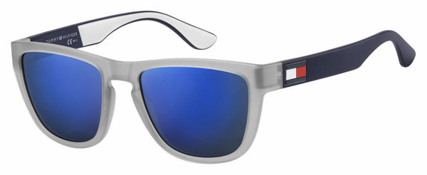 Tommy Hilfiger - Th 1557 S Matte Gray  Sunglasses / Blue Sky Mirror Lenses
