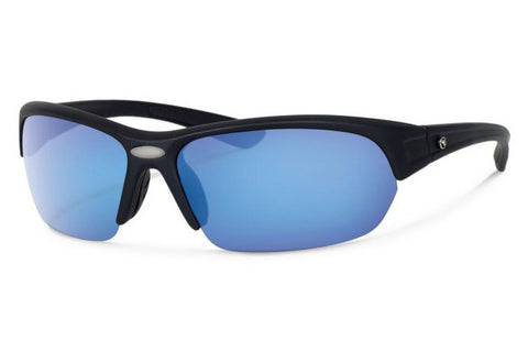 Forecast - Thad Black Sunglasses, Blue Mirror Lenses
