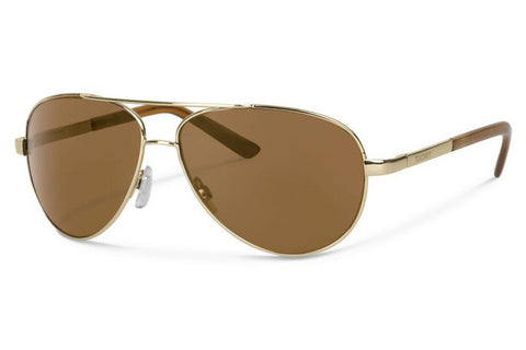 Forecast - Trapper Gold Sunglasses, Brown Polarized Lenses