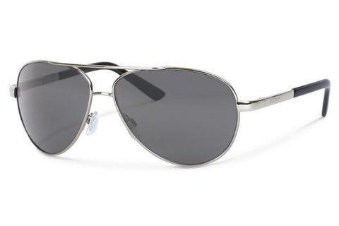 Forecast - Trapper Silver Sunglasses, Gray Polarized Lenses