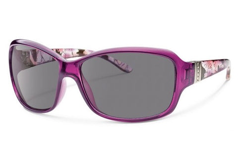 Forecast - Valencia Crystal Purple Sunglasses, Gray Lenses