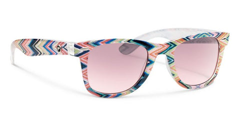 Forecast - Ziggie Multi Chevron Sunglasses / Pink Gradient Lenses