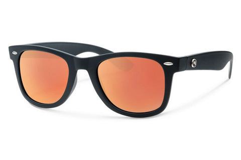 Forecast - Ziggie Matte Black Sunglasses, Red Mirror Lenses