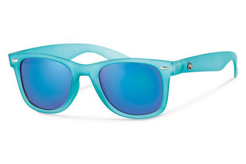 Forecast - Ziggie Matte Teal Sunglasses, Teal Mirror Lenses