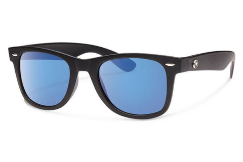 Forecast - Ziggie Matte Black Sunglasses, Blue Mirror Lenses
