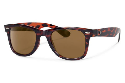 Forecast - Ziggie Tortoise Sunglasses, Brown Polarized Lenses