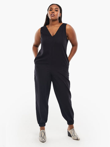 ABLE - Charvee Relaxed Black Jumpsuit
