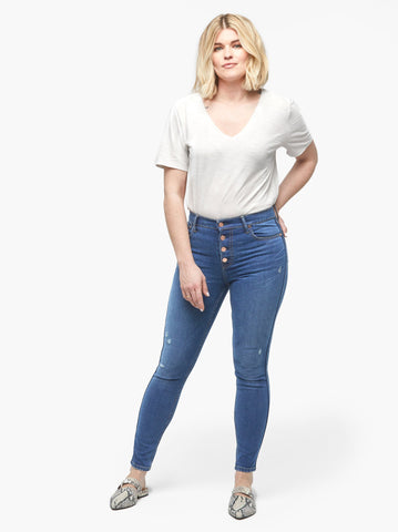ABLE - The Delta Button Front Denim Jeans