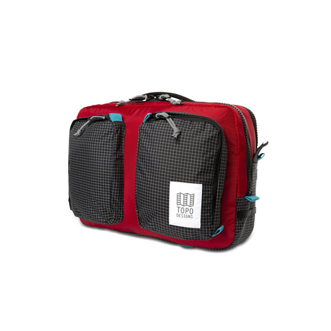 Topo Designs -  Red Black Ripstop Unisex Global Briefcase