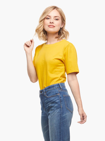 ABLE - Renuka Puff Yellow Short Sleeve Tee
