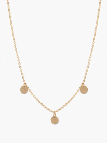 ABLE - Mini Tag Choker Gold Necklace