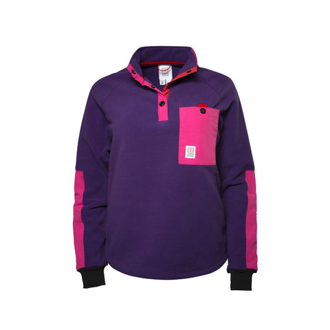 Topo Designs - Women's Mountain Fleece Purple Jacket