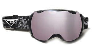 Peppers - Sirque Black Snow Goggles / Bronze Silver Mirror Lenses