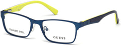 Guess - GU9173 Matte Blue Eyeglasses / Demo Lenses