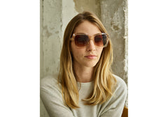 TOMS - Mackenzie Champagne Crystal Sunglasses, Brown Gradient Lenses