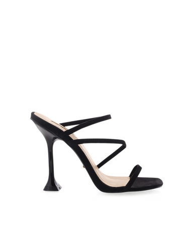 BiLLiNi - Women's Faryn Black Suede Block Heels