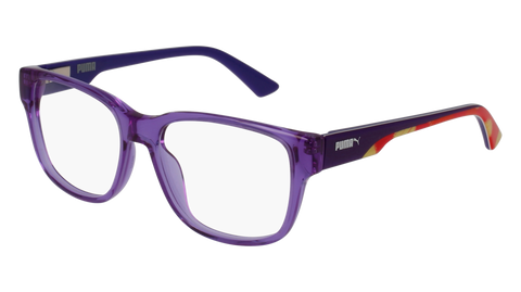 Puma - PJ0005O Junior Violet Eyeglasses / Demo Lenses