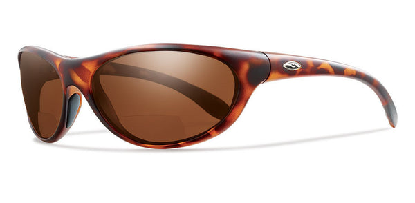 Smith Fly By Bifocal Tortoise Sunglasses, +2.50 Polarized Copper Lenses
