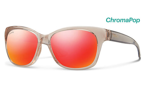 Smith - Feature Desert Crystal Smoke Sunglasses, ChromaPop Sun Red Mirror Lenses