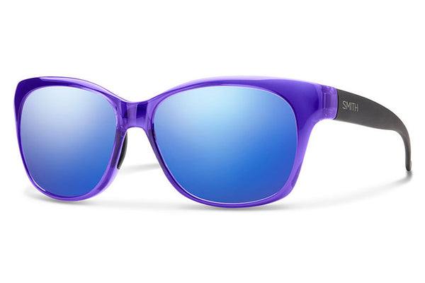 Smith - Feature Crystal Ultraviolet - Matte Black Sunglasses, Blue Flash Mirror Lenses