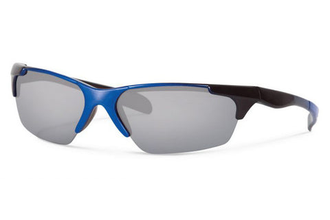 Forecast - Climb Black Blue Sunglasses, Gray Mirror Lenses
