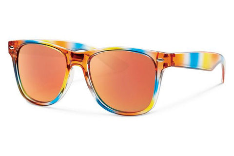 Forecast - Crunch Rainbow Sunglasses, Red Mirror Lenses