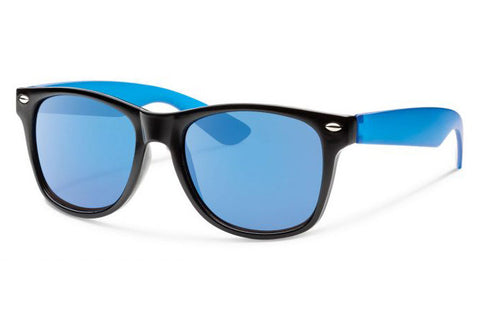 Forecast - Crunch Black Royal Sunglasses, Blue Mirror Lenses