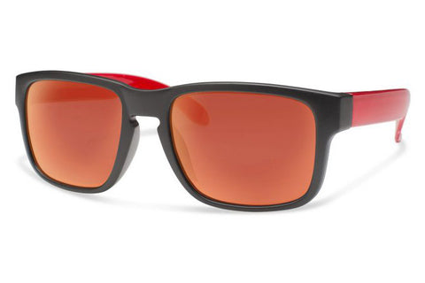 Forecast - Juggle Matte Black Sunglasses, Red Mirror Lenses
