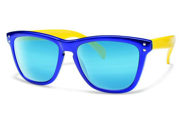 Forecast - Wander Blue Yellow Sunglasses, Blue Mirror Lenses