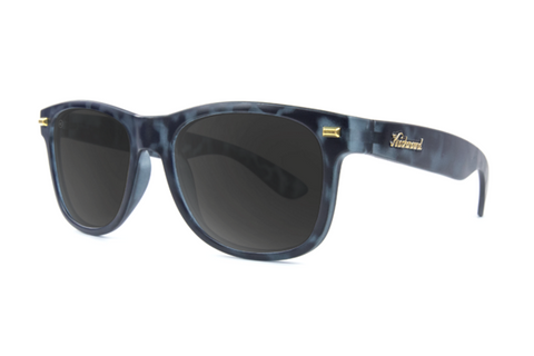 Knockaround - Fort Knocks Matte Black Tortoise Shell Sunglasses, Smoke Lenses