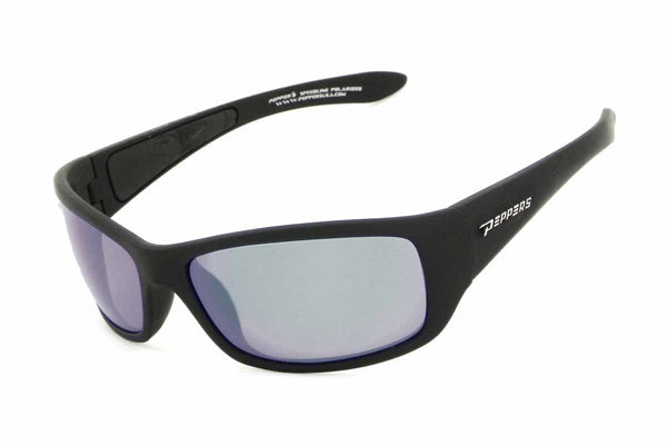 Peppers - Cutthroat Matte Black Sunglasses / Smoke Polarized Lenses
